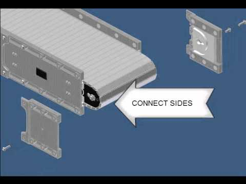 DynaCon Modular Belt Installation for Narrow Conveyors