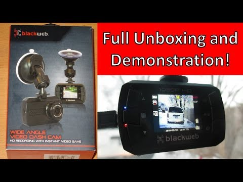 BlackWeb Wal-Mart Dash Cam - Full Unboxing And Demonstration