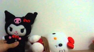 Hello Kitty Black Wonder - Crying Kitty being caught by Kuromi