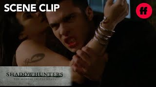 Shadowhunters | Season 2, Episode 8: Raphael Bites Izzy | Freeform