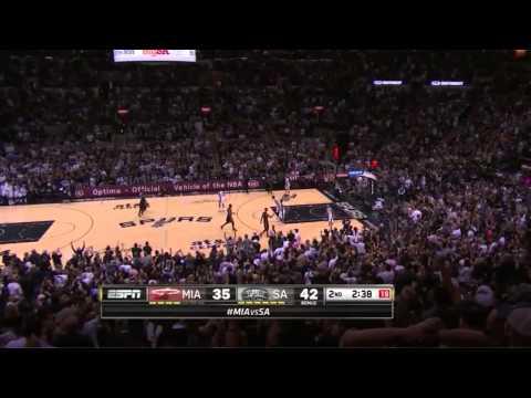 Manu Ginobili 19 points vs Miami Heat | game 5 | 2014 NBA finals