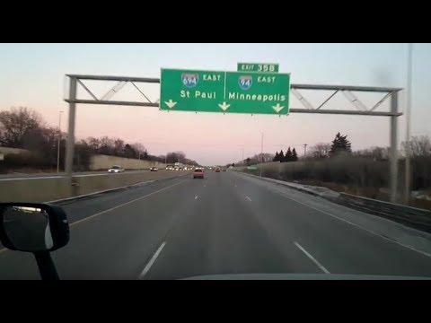 BigRigTravels LIVE! Fargo, North Dakota to Menomonie, Wisconsin Interstate 94 & 694-Feb. 21, 2018