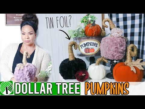 Dollar Tree Fall Pumpkin DIY 2019! Farmhouse Pumpkin Decor | Sensational Finds