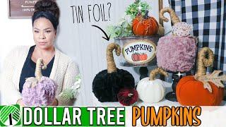 Dollar Tree Fall Pumpkin DIY 2019! Farmhouse Pumpkin Decor | Sensational Finds
