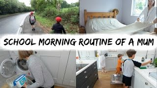SCHOOL MORNING ROUTINE OF A MUM / MOM | DAILY MORNING CLEANING ROUTINE | KERRY WHELPDALE