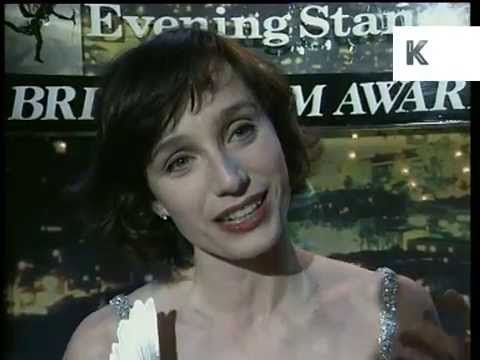 Kristin Scott Thomas at the 1994 London Evening Standard Awards
