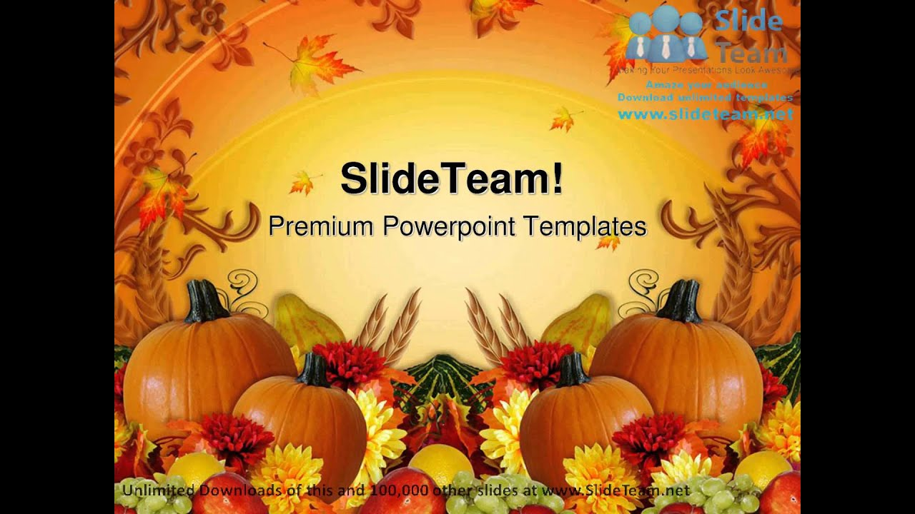 Autumn theme powerpoint - Thanksgiving Harvest Fall Festival Powerpoint Templates Themes And Backgrounds Ppt Themes Youtube