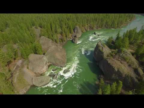 Bowl and Pitcher aerial footage - Riverside Park Spokane Washington