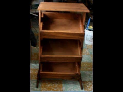 Mueble para frutas y verduras youtube for Cajoneras de madera para cocina