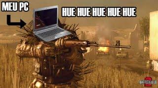 Meu PC Jogando Battlefield 2 =O