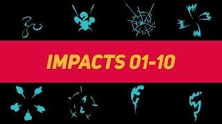 Liquid Elements Impacts 01-10 Motion Graphics Templates