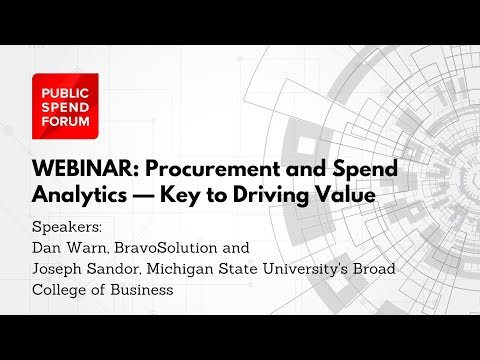 Webinar: Procurement and Spend Analytics — Key to Driving Value