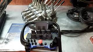 Hydraulic valve 4 functions 120l/min (33GPM) Full proportional 24 V  Crane + Scanreco Radio Remote Control 4 function video