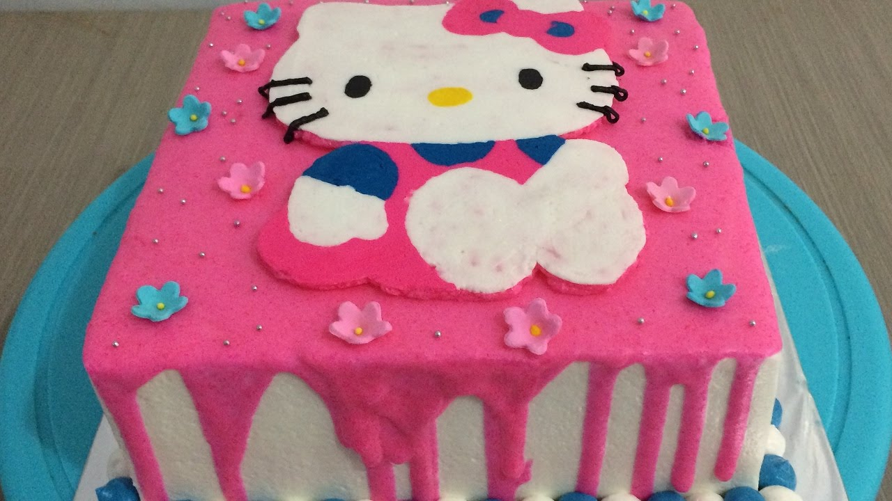 Hello Kitty Cake Buttercream Steam and Transfer YouTube