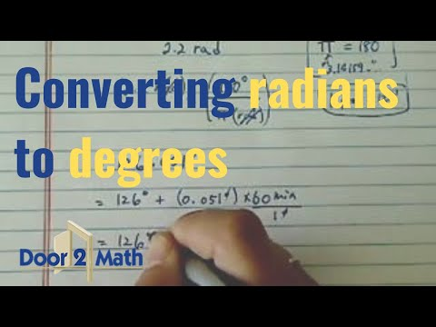 *how to convert radians to degrees? - YouTube