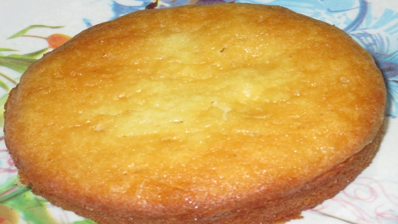 Eggless Vanilla Cake Recipes In Pressure Cooker: How To Make Eggless Sponge Cake In Pressure Cooker/Vanilla