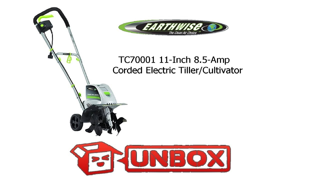 Earthwise Tc70001 11 Inch 8 5 Amp Electric Tiller Cultivator Unboxing Embly Notsponsored