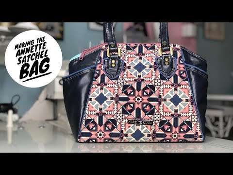 Making The Annette Satchel Size by Swoon Sewing Patterns - YouTube