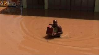 Brésil: une petite ville sous les eaux après de fortes pluies