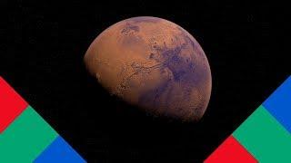 Como seria a bandeira de Marte?