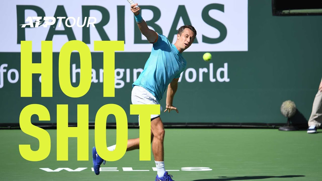 Download Hot Shot: Kohlschreiber Curls A Beauty Against Kyrgios In Indian Wells 2019