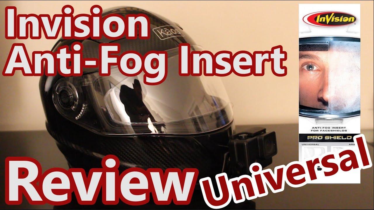 df37a3d6 Invision Anti-Fog Visor Insert Review - YouTube