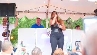 Freestyle Legend Cynthia Performing at the East Harlem Giglio Feast