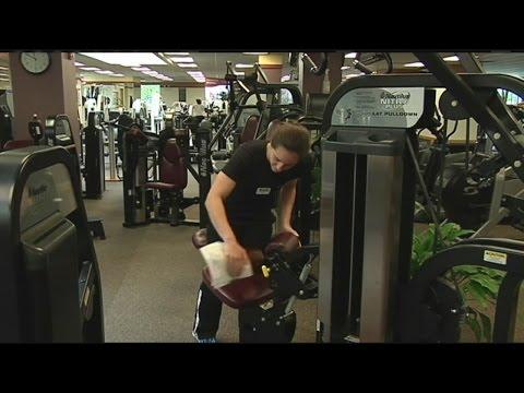 Clean Gym Equipment