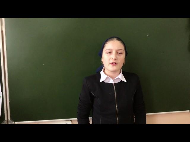 Изображение предпросмотра прочтения – РаянаЮсаева читает отрывок изпроизведения «Бородино» М.Ю.Лермонтова