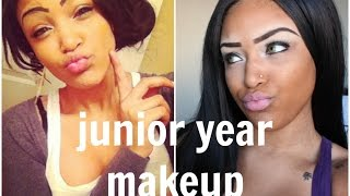 how i did my makeup in highschool challenge   junior year