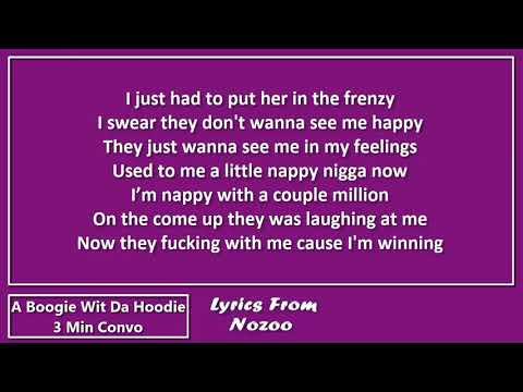 A Boogie Wit Da Hoodie - 3 Min Convo (Lyrics)