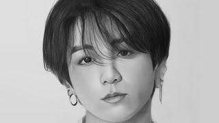 Pencil Drawing BTS Jungkook 전정국 연필 그림 이요 저속