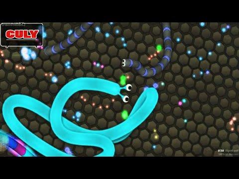 Slither.io | Rắn nhỏ quậy phá rắn to Thử thách 10 phút rắn săn mồi | Cu lỳ chơi game #8 | gameplay
