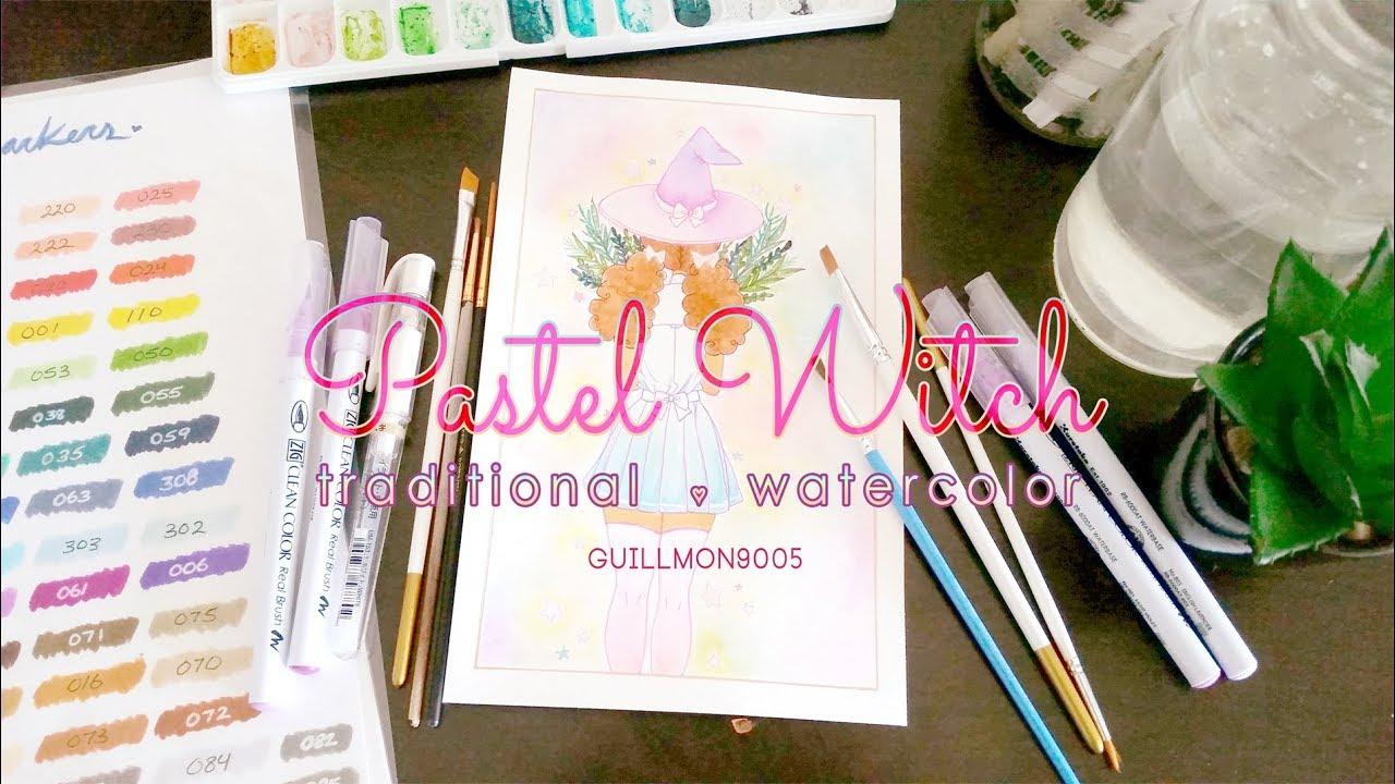 Guillmon9005: Pastel Witch • Traditional • Watercolor (Chenxira)