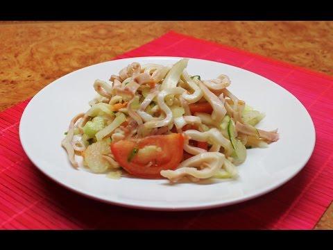 Диетический салат с кальмарами =)