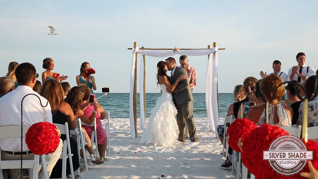 Pensacola Beach Wedding Video, a beautiful day for a wedding