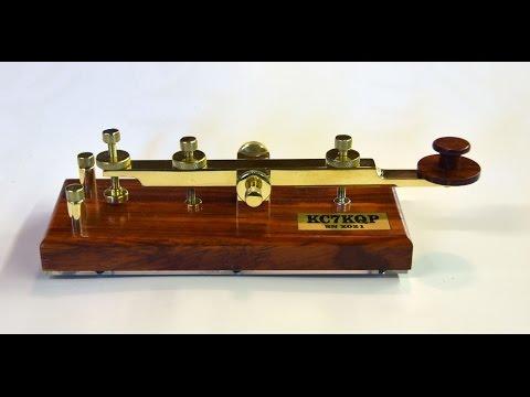 "Making of a CW Morse Code Straight Key ""The Titan"""
