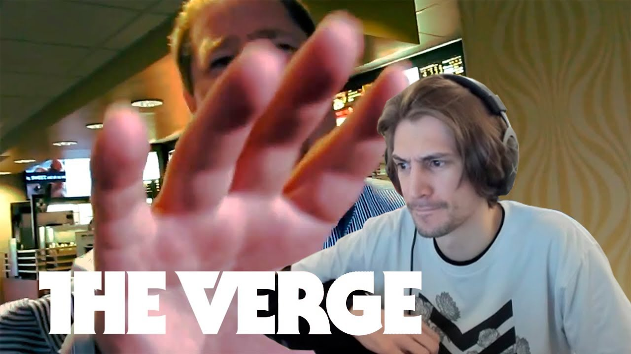 xQc Reacts To Why does everyone hate Surveillance Camera Man? - Verge Update