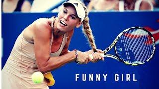Tennis. Caroline Wozniacki - Funny Moments