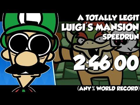 A TOTALLY LEGIT Luigi's Mansion Speedrun Cartoon (ANY% WORLD RECORD)
