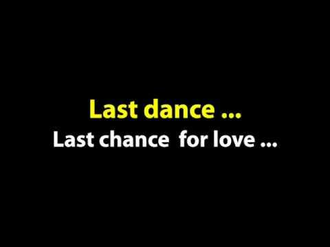 """Karaoke """"Last Dance"""""""