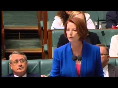Australian Prime Minister Julia Gillard's Misogyny Speech