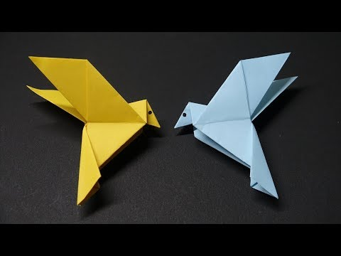 How to make a paper Flapping bird?  Easy Steps - DIY Origami Animal Tutorial