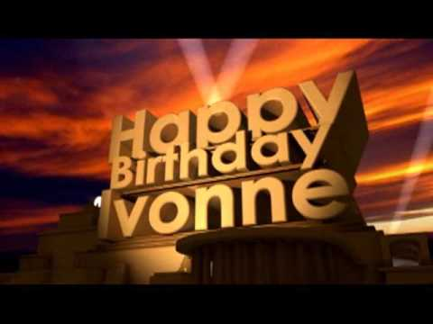 Happy Birthday Ivonne Youtube