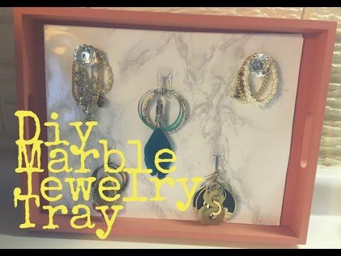 DIY ROOM DECOR   Marble Jewelry Display