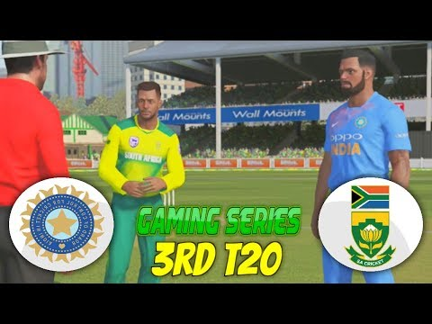 3RD T20 INDIA vs SOUTH AFRICA 2018 - ASHES CRICKET 17 (GAMING SERIES)
