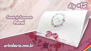 Convite de Casamento Floral / Floral Wedding Invitation / Invitacion Floral de la Boda DIY #13