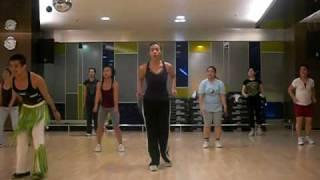zumba fitness class with jun ko agus waka waka jakarta city indonesia