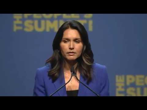 Stop Illegal Wars - Tulsi Gabbard @ Peoples Summit in Chicago