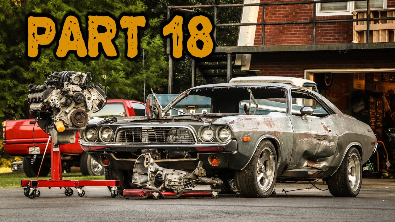 ABANDONED Dodge Challenger Rescued After 35 Years Part 18: Hemi and 4 Speed Transmission!